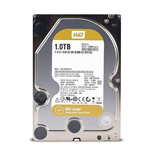 "Western Digital Wd1005fbyz 1Tb Gold 7200 Rpm Sata Iii 3.5"" Internal Datacenter Hdd"