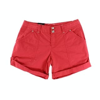 INC NEW Red Womens Size 16 Cuffed Twill Zipper Fly Regular Fit Shorts|https://ak1.ostkcdn.com/images/products/is/images/direct/dbf7cd1f1aeeb9c2bfc19385ba2ea7d99a2fa738/INC-NEW-Red-Womens-Size-16-Cuffed-Twill-Zipper-Fly-Regular-Fit-Shorts.jpg?impolicy=medium
