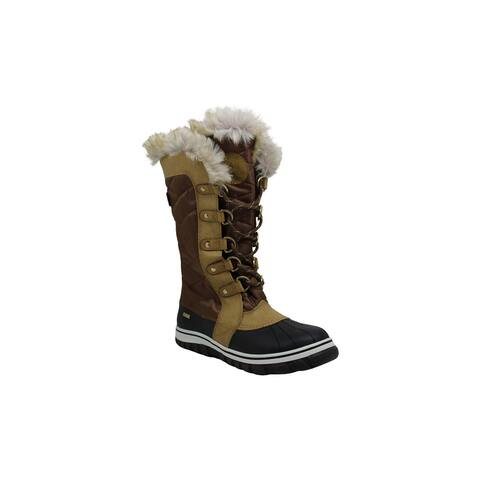 Steve Madden Womens Natalya Fabric Closed Toe Mid-Calf Cold Weather Boots