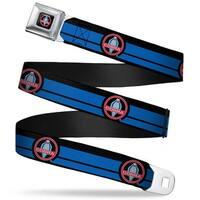 Classic Mustang Cobra Logo Full Color Black Gray Red Gray Classic Mustang Seatbelt Belt