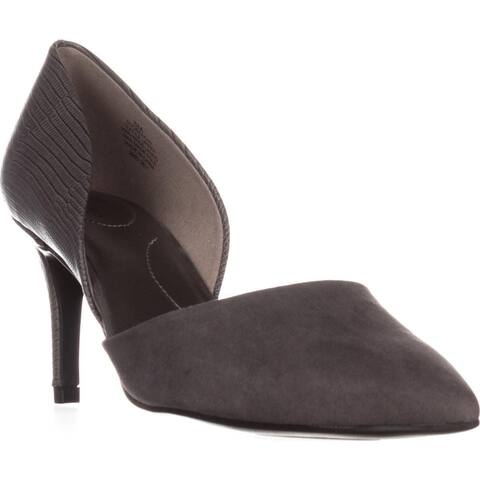 Bandolino Grenow Kitten-Heel Pumps, Gray/Gray