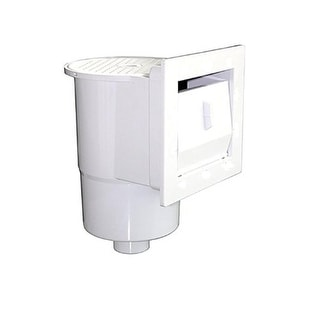 "12.5"" White Thru-Wall Skimmer for Above-Ground Swimming Pool with Face Plate"