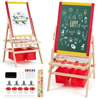 "Flip-Over Double-Sided Kids Art Easel - 20.5 "" x 20 "" x 42 "" (L x W x H)"