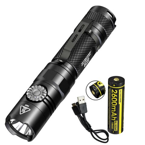 NITECORE EC22 1000 Lumen Infinite Brightness LED Flashlight w/ USB Rechargeable Battery