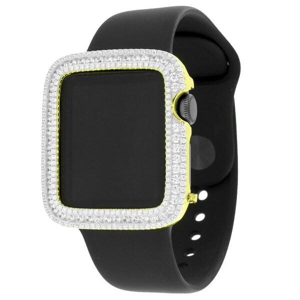 Gold Tone Apple Watch Custom Simulated Diamonds 38mm Sport Band 1st Generation