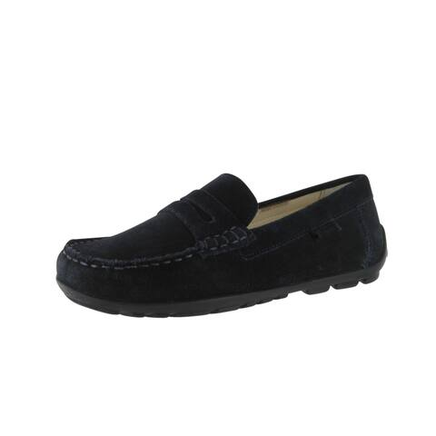 cb79a161bf Geox Boys Fast B Loafers-Shoes - Navy Suede