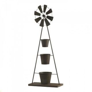 Iron Windmill Plant Stand