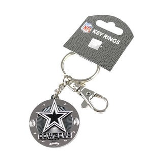 Dallas Cowboys Keychain Id/Key Ring Swivel Clip Photo Holder -NFL