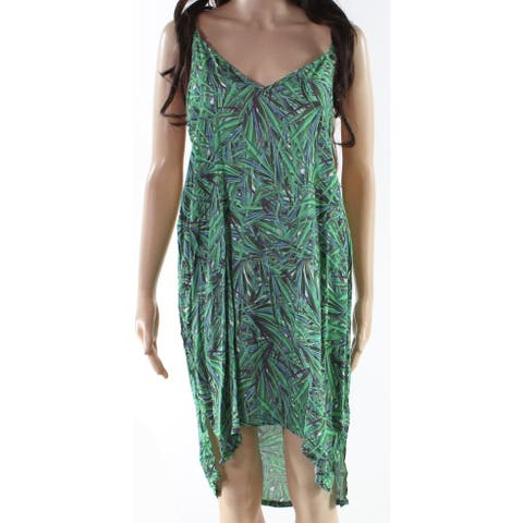 Onia Green Womens Size Large L Leaf Print Strappy Swimwear Cover-Up