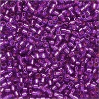 Miyuki Delica Seed Beads 11/0 - Dyed Silver Lined Bright Violet DB1345 7.2 Grams