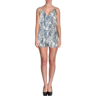 Olivaceous Womens Printed Spaghetti Straps Romper