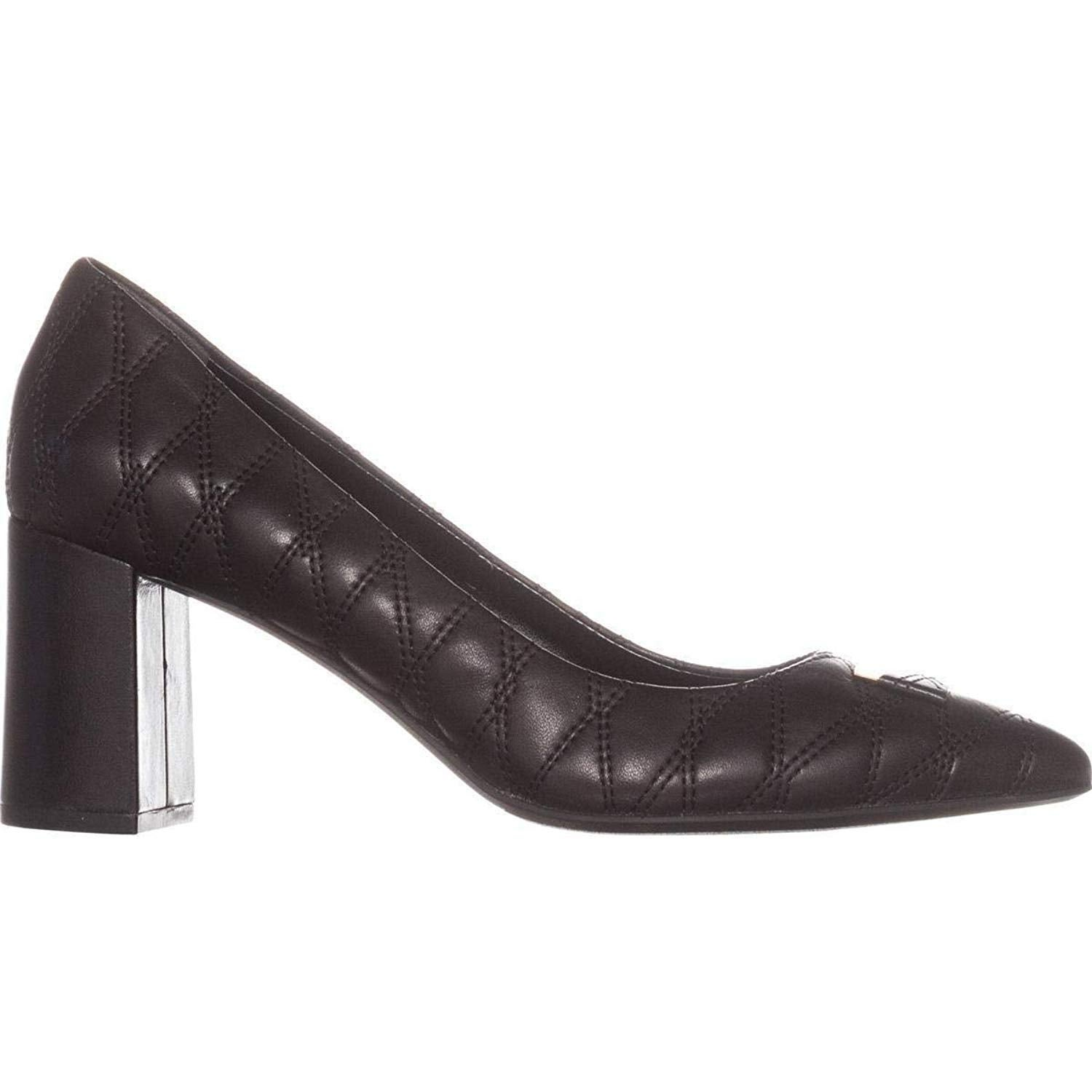 DKNY Womens Elia Leather Pointed Toe Classic Pumps