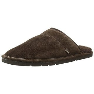Lamo Mens Scuff Mule Slippers Suede Fleece Lined