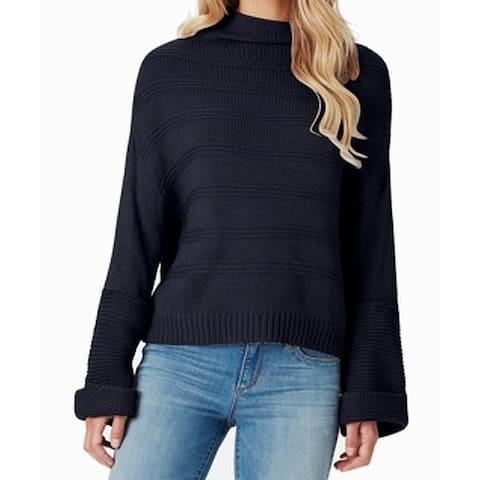 Jessica Simpson Womens Blue Size Large L Ribbed Turtleneck Mock Sweater