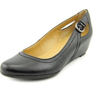 Naturalizer Nevis Open Toe Synthetic Wedge Heel