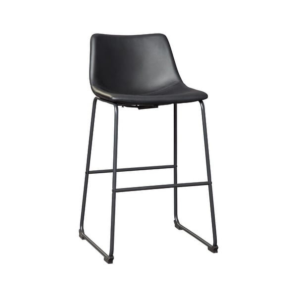 Centiar Casual Tall Upholstered Barstool Set of 2, Black. Opens flyout.