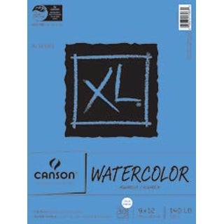 """30 Sheets - Canson XL Watercolor Paper Pad 9""""X12"""""""