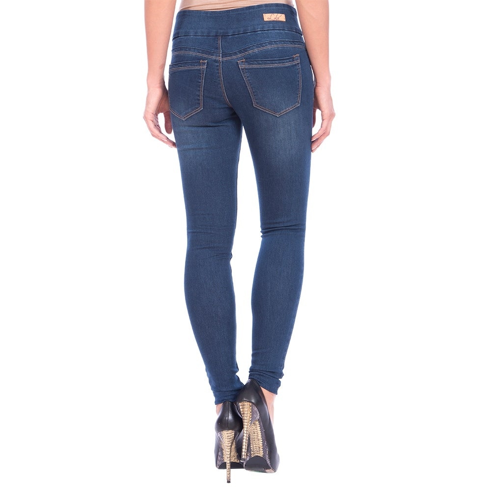 Lola Pull On Skinny Jeans, Anna-MSB - Thumbnail 1