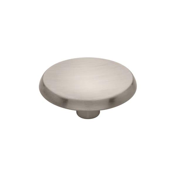 Concave 1-7/16 Inch Diameter Mushroom Cabinet Knob - satin nickel