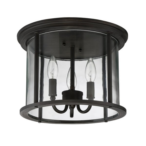 "Craftmade Z2837 Carlton 3 Light Flush Mount Ceiling Fixture - 13"" Wide"