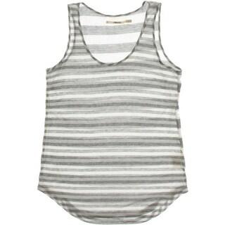 J Brand Womens Striped U-Neck Tank Top