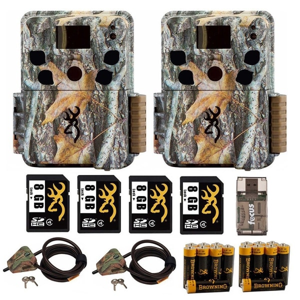 Browning Dark Ops HD Pro Trail Camera (2) with 8GB Card (4) and Accessory  Kit - Camouflage