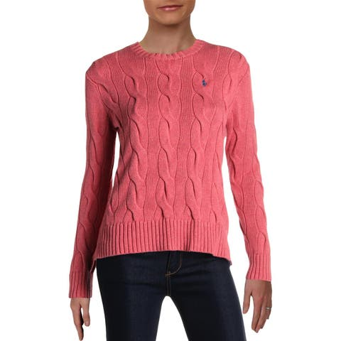 Polo Ralph Lauren Womens Sweater Cable Knit Long Sleeves