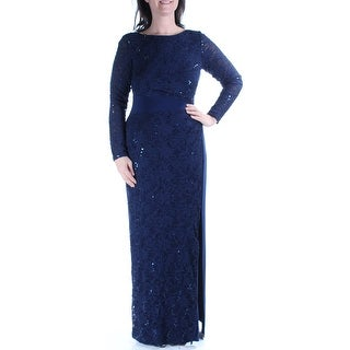 RALPH LAUREN $240 New 1237 Blue Lace, Embroidered Sheath Formal Dress 2 B+B