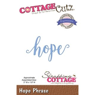 "Cottagecutz Expressions Plus Die-Hope 3""X1.8"""