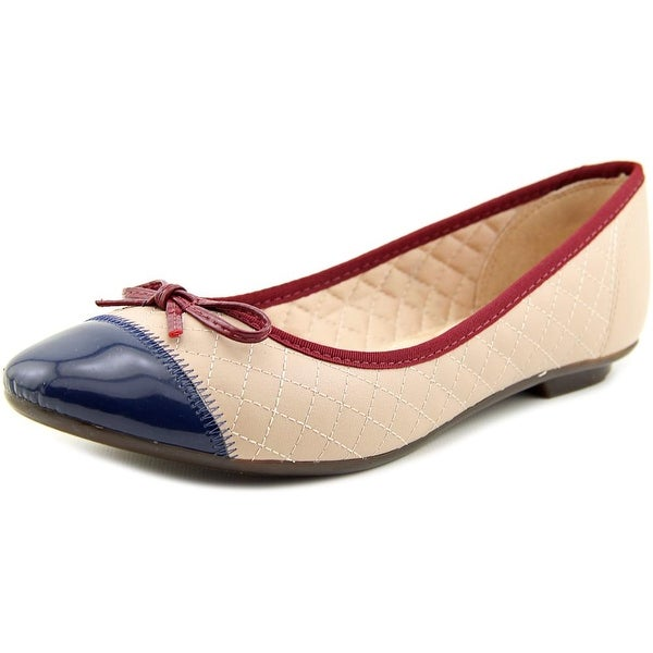 Patrizia By Spring Step Surprise Women Round Toe Synthetic Nude Flats