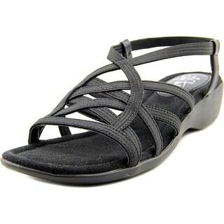 Life Stride Tandie Women W Open Toe Canvas Black Sandals