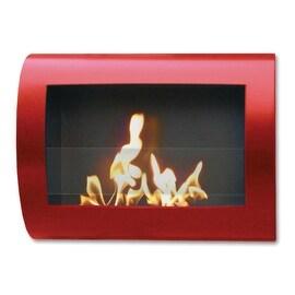 Chelsea (Red_High Gloss) Wall Mount Bio Ethanol Ventless Fireplace