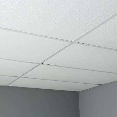 Genesis Stucco Pro White 2 x 4 ft. Lay-in Ceiling Tiles