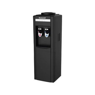Honeywell HWB1052B2 39-Inch Freestanding Water Cooler Dispenser, Hot and Cold Temperatures with ther - Black