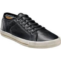 Florsheim Men's Flash Plain Toe Sneaker Black Milled Leather