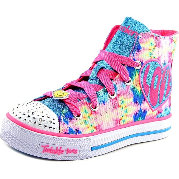 Skechers Shuffles -Sparkle Smile Youth  Round Toe Canvas Multi Color Sneakers