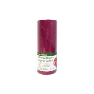 """Floracraft Ribbon Organza 6""""x10yd Glitter Fuchsia"""