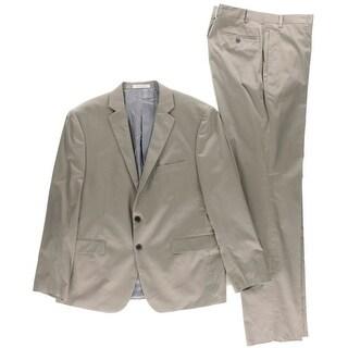 Calvin Klein Mens Two-Button Suit Extreme Slim Fit Double Vent - 43R