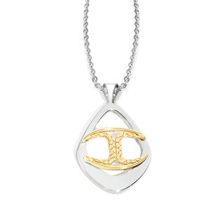 Just Cavalli Monogram Pendant in Sterling Silver & Gold-Plated Stainless Steel - Two-tone