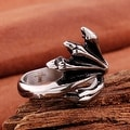 Vienna Jewelry Abstract Emblem Stainless Steel Ring - Thumbnail 1