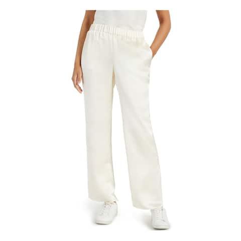 ALFANI Womens Ivory Wide Leg Evening Pants Size L