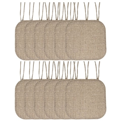 Aria Memory Foam Non-Slip Chair Pad with Ties