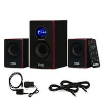 Acoustic Audio AA2103 Bluetooth 2.1 Speaker System w/ Optical In & 2 Ext. Cables
