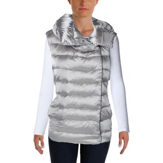 Lauren Ralph Lauren Womens Yavaros Outerwear Vest Asymmetrical Wind Resistant
