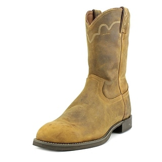 Justin Boots 3902 Men 2E Round Toe Leather Tan Western Boot