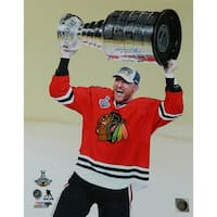 Marian Hossa Chicago Blackhawks 2015 Stanley Cup Holding Trophy 16x20 Photo