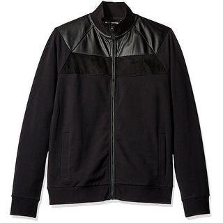 Kenneth cole mens black bomber jacket