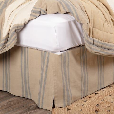 Farmer's Market Grain Sack Stripe Bed Skirt