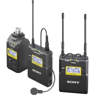 Sony UWP-D16 Integrated Digital Plug-On & Lavalier Combo Wireless Microphone System (Block 25: 536 to 608 MHz)