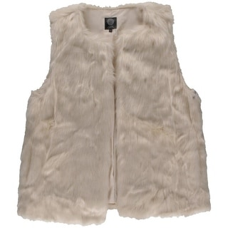 Vince Camuto Womens Long Hair Faux Fur Casual Vest